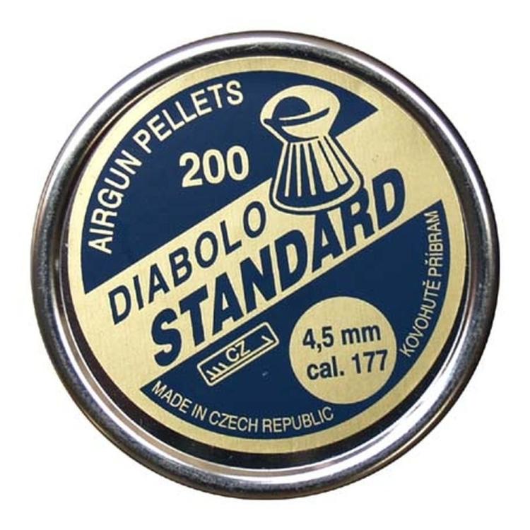 Diabolo Standard, ráže 4,5 mm (.177), 200 ks, Kovohutě Příbram