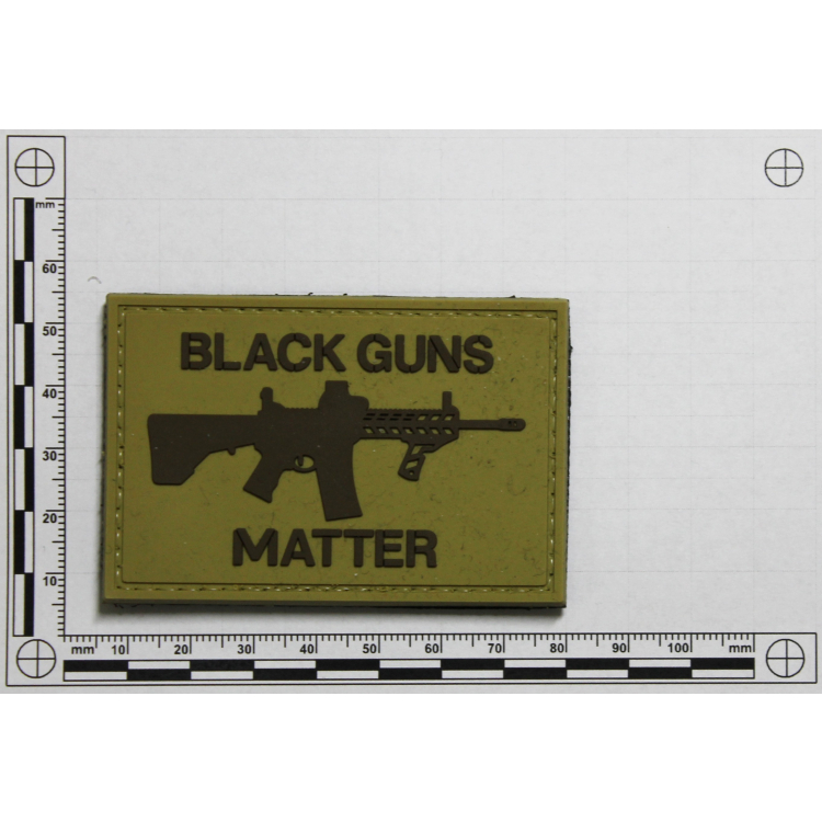 PVC nášivka Black Guns Matter