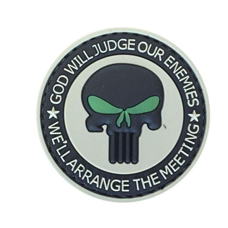 PVC nášivka Punisher, zářící