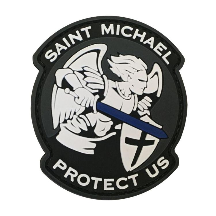 PVC nášivka Saint Michael, Protect us