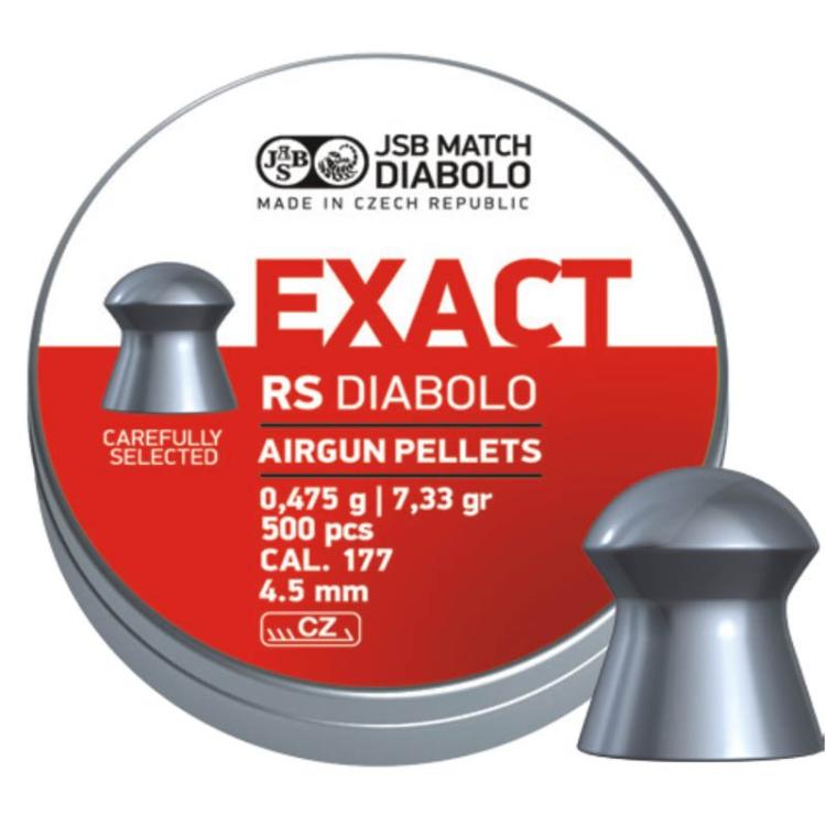 Diabolo JSB Exact RS, ráže 4,52 mm (.177), 500 ks