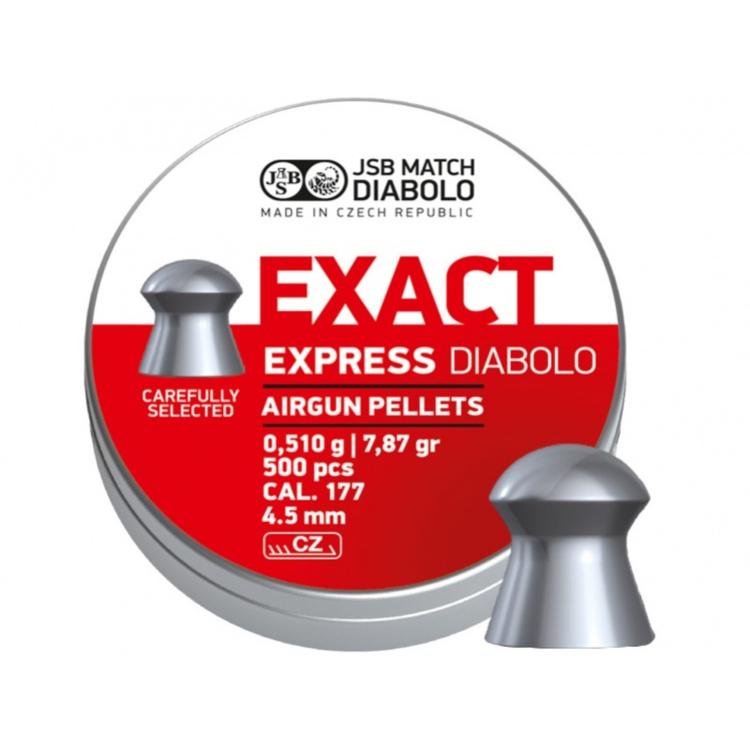 Diabolo JSB Exact Express, ráže 4,52 mm (.177), 500 ks