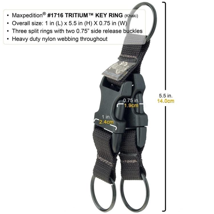 Kroužek na klíče Tritium, Maxpedition