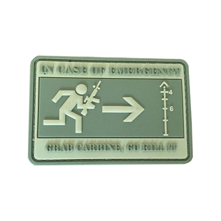 PVC nášivka In Case of Emergency