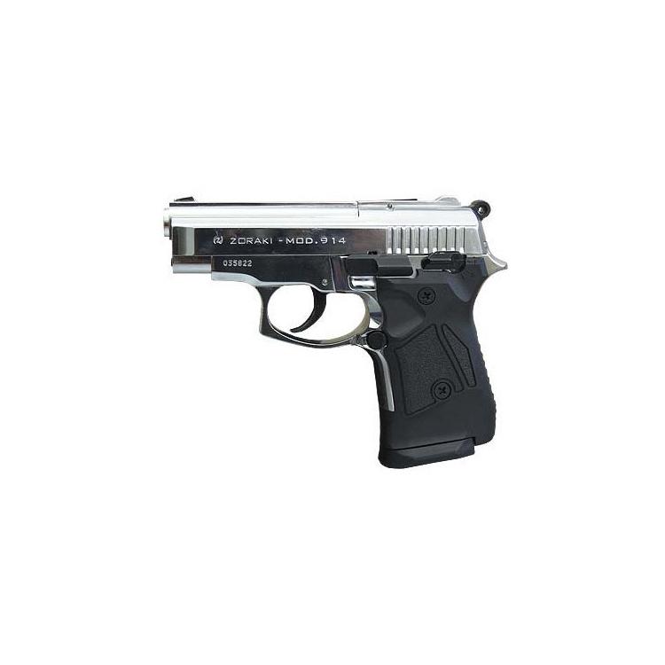 Plynová pistole 9mm Atak 914, leskle chromovaná