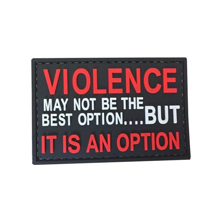 PVC nášivka Violence option