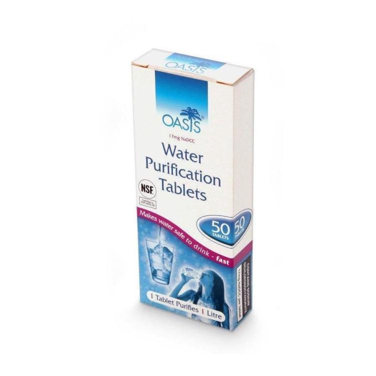 Tablety na čištění vody, 50 tablet, BCB