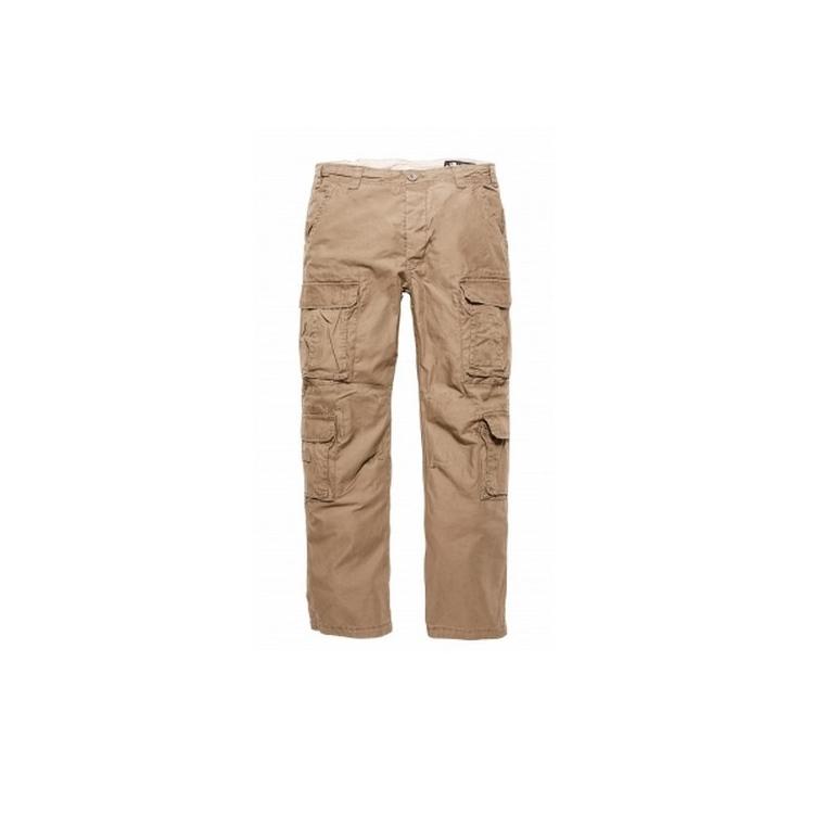 Kalhoty Pack Vintage Industries, dark khaki