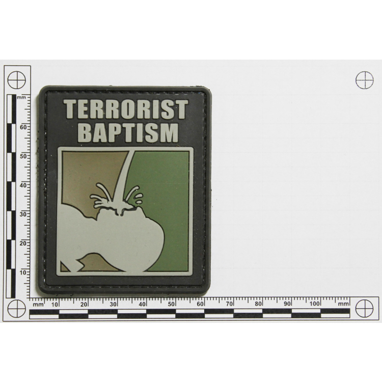 PVC nášivka Terrorist baptism