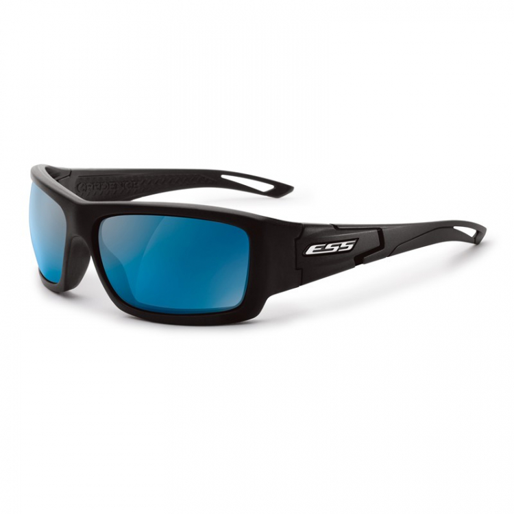 Sluneční brýle ESS Credence, černý rám a zrcadlová modrá skla