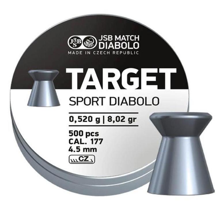 Diabolo JSB Target Sport, ráže 4,5 mm (.177), 500 ks
