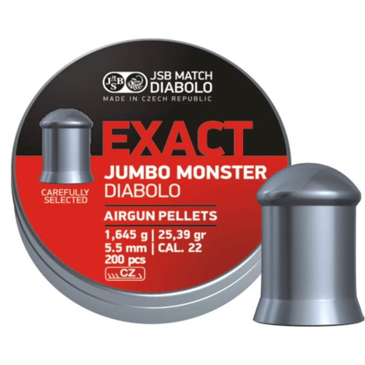 Diabolo JSB Jumbo Exact Monster, ráže 5,52 mm (.22), 200 ks