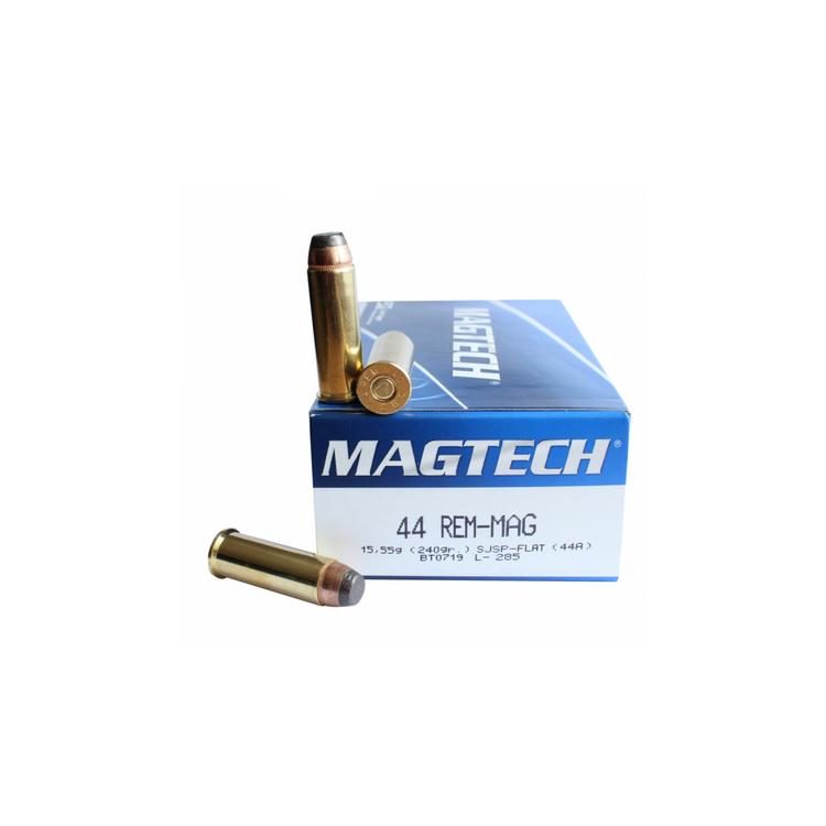 Náboje .44 Magnum, SJSP FLAT, 240 grs, 50 ks, Magtech