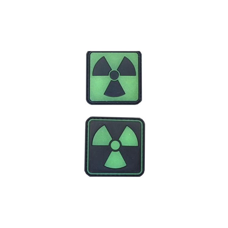 PVC nášivka Atomic, svítící