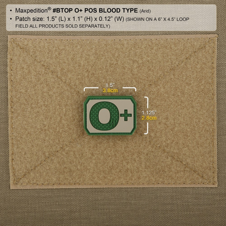 Nášivka O+ POS, Maxpedition