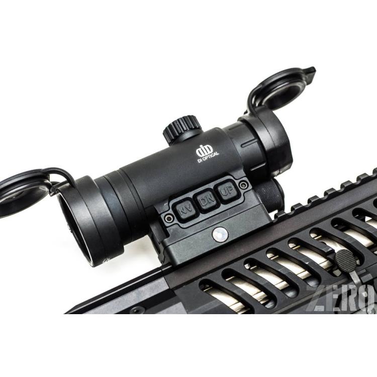 Kolimátor DI Optical Raven 2, tubusový, 30mm, tečka 1,5MOA, tlačítka