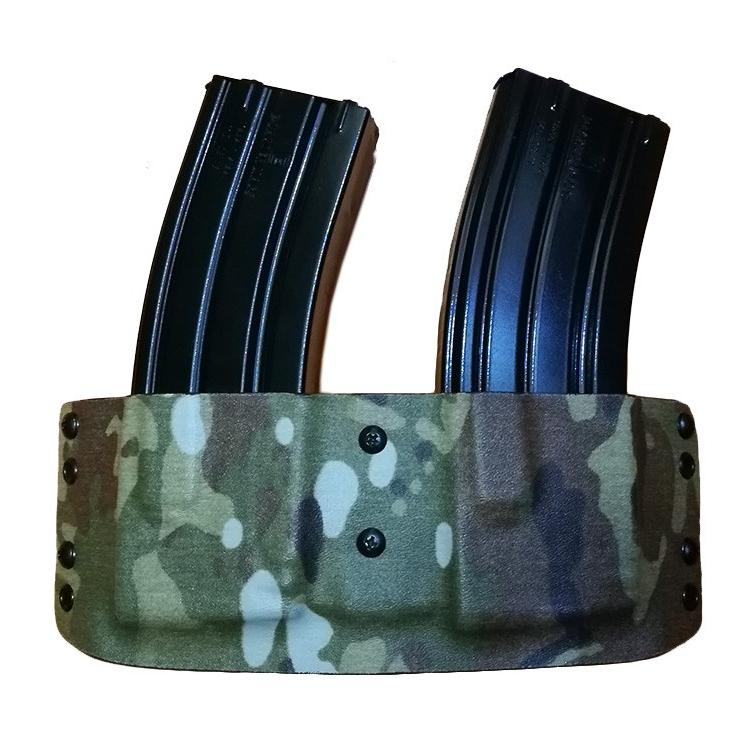 Kydex pouzdro na 2x zás. AR-15, př. potisk, rub černá, RH Holsters