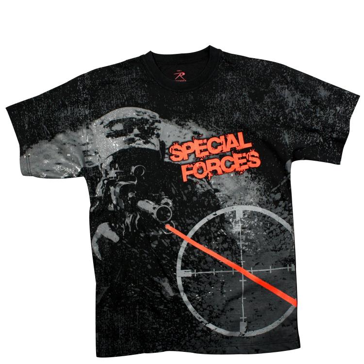Pánské triko Rothco Special Forces, černé