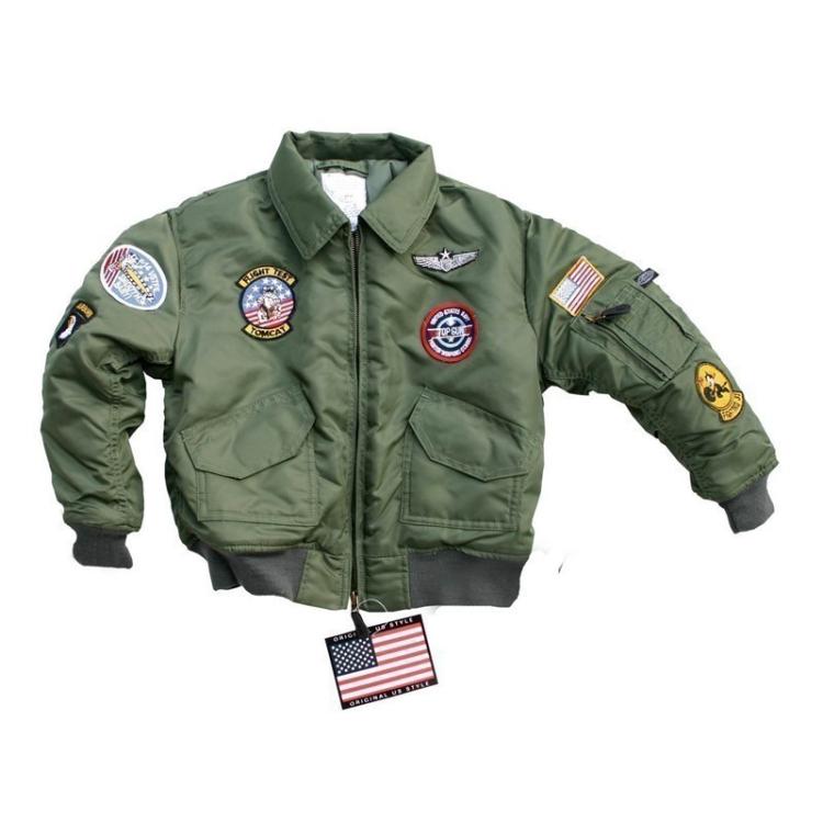 Dětská letecká bunda CWU, zelená