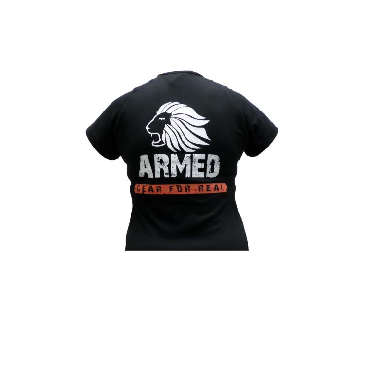 Tričko Armed Gear for Real, bavlna, dámské, černé
