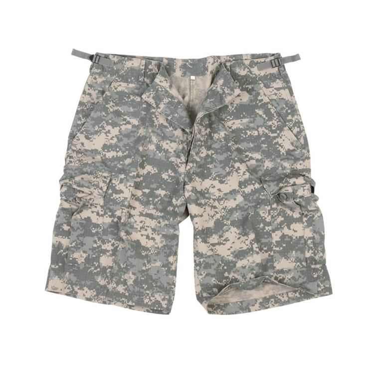 Kraťasy U.S. Army, předeprané, Rip-Stop, Mil-Tec - Kraťasy U.S. Army předeprané Rip-Stop