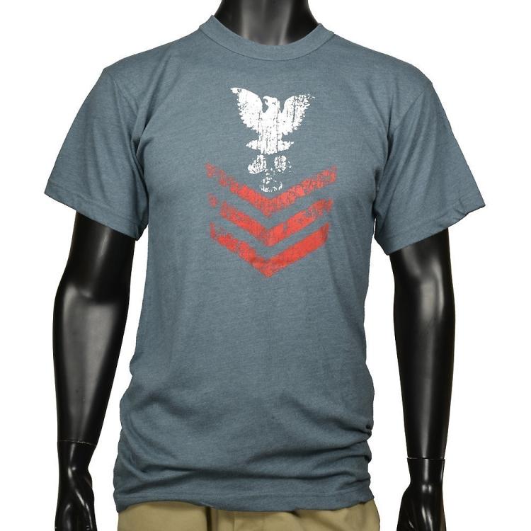 Pánské triko Naval Rank Insignia, modré, Rothco