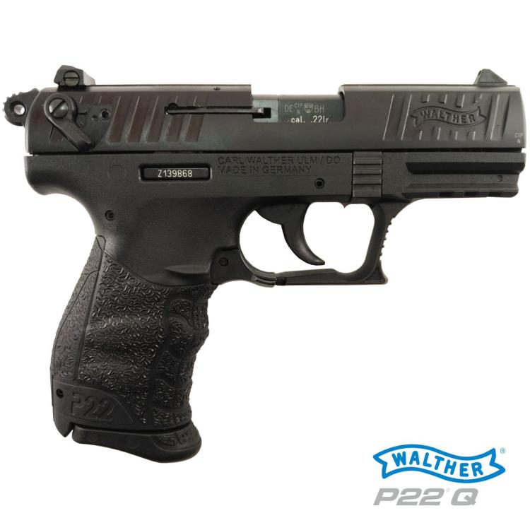 """Pistole Walther P22Q, 3,42"""", ráže .22 LR, černá"""