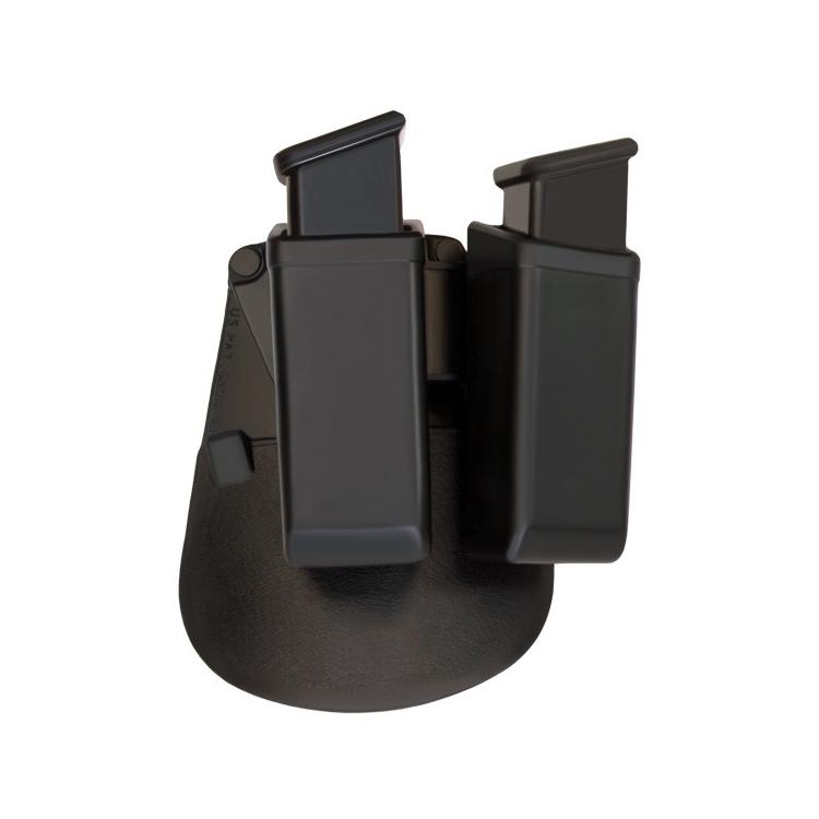 Dvojité rotační plastové pouzdro pro dva zásobníky 9 mm Luger, ESP - Dvojité rotační plastové pouzdro pro dva zásobníky 9 mm Luger, ESP