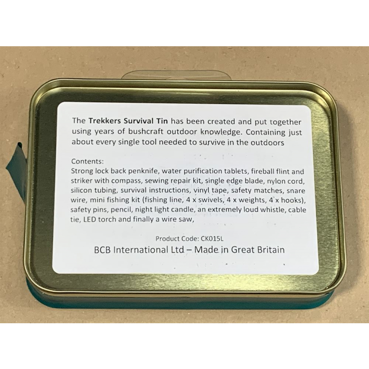Krabička poslední záchrany Trekkers, BCB