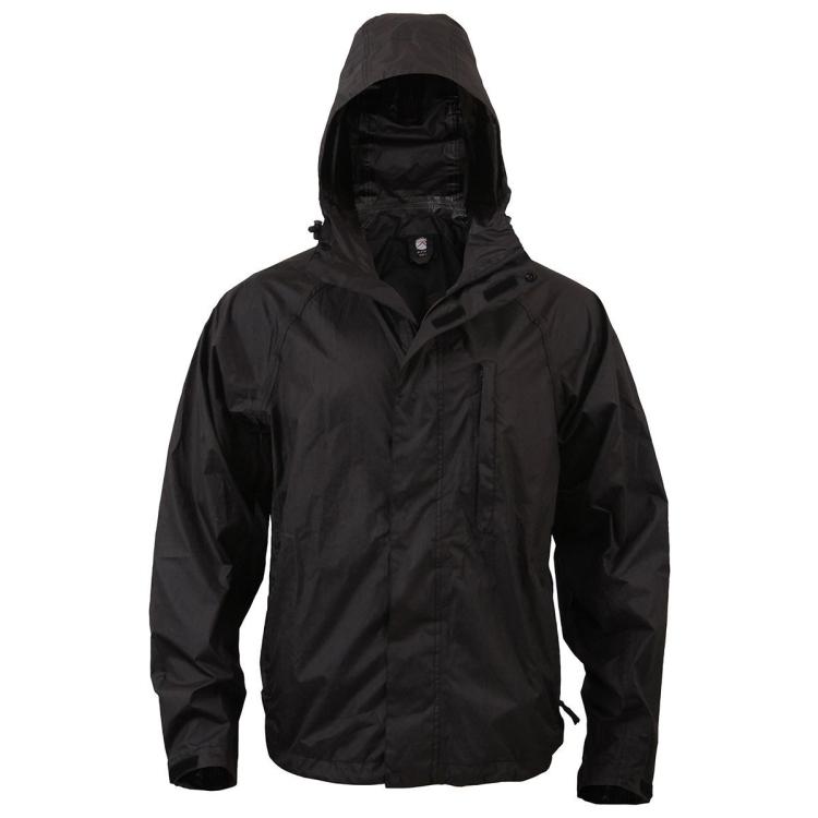 Nepromokavá sbalitelná bunda, černá, Rothco - Nepromokavá sbalitelná bunda, černá