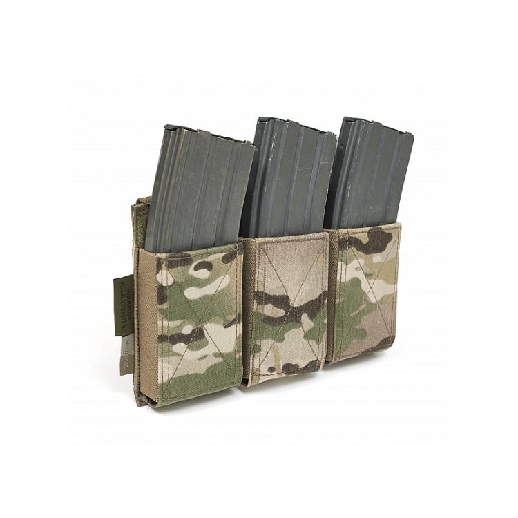 Trojitá Elastic sumka na zásobníky M4/AK74, Warrior - Trojitá Elastic sumka na zásobníky M4/AK, Warrior