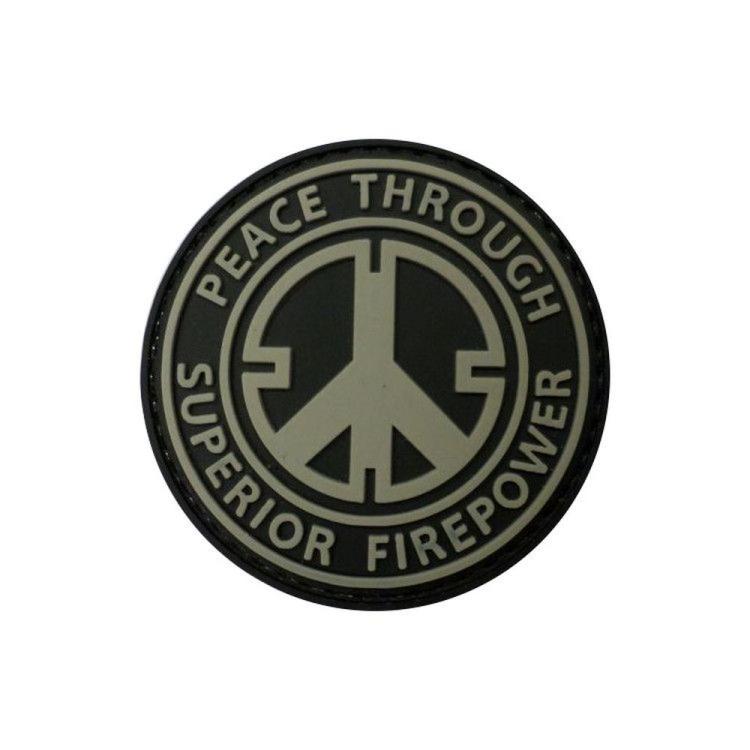 PVC nášivka  Peace Trhough Superior Firepower