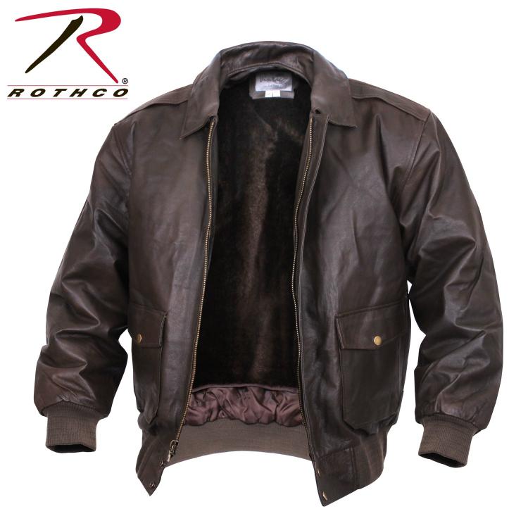 Letecká kožená bunda A2, Rothco, hnědá