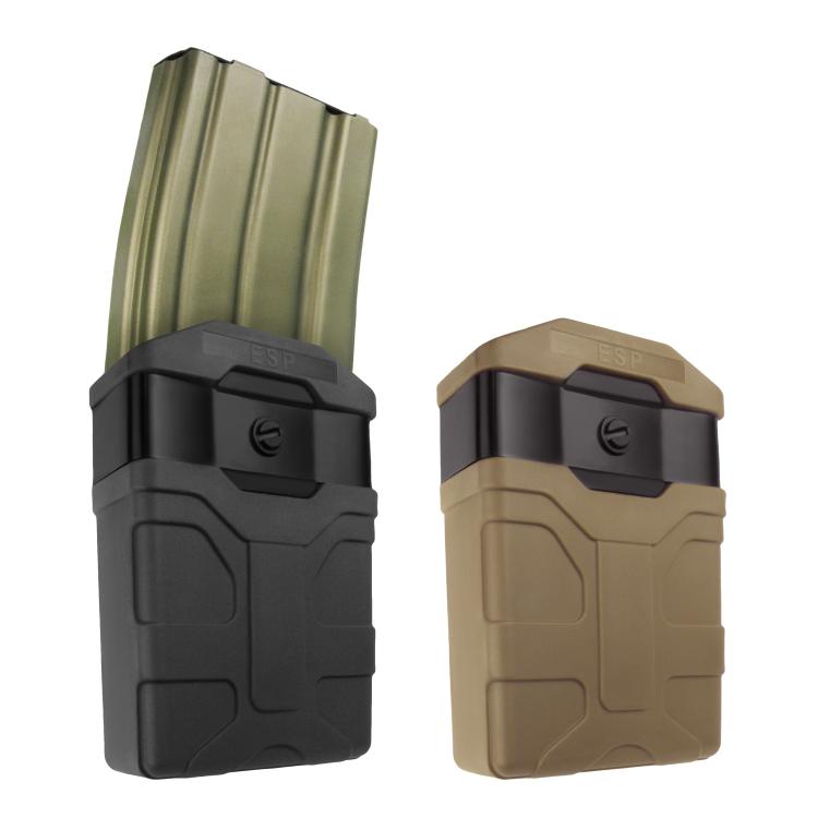 Plastové pouzdro pro dvouřadý zásobník 9mm Luger, klip na opasek, ESP