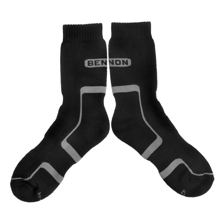 Nadkotníkové ponožky Trek černošedé, Bennon - Ponožky Bennon Trek