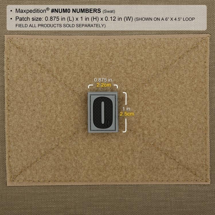 Nášivka Number 0, Maxpedition