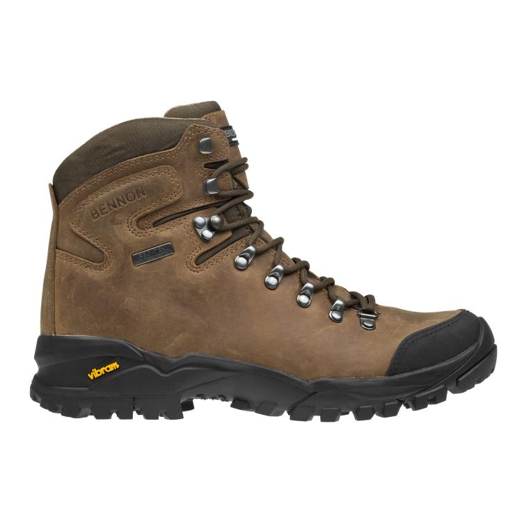 Kožená obuv Terenno High, hnědé,  Bennon - Boty Bennon Terenno high