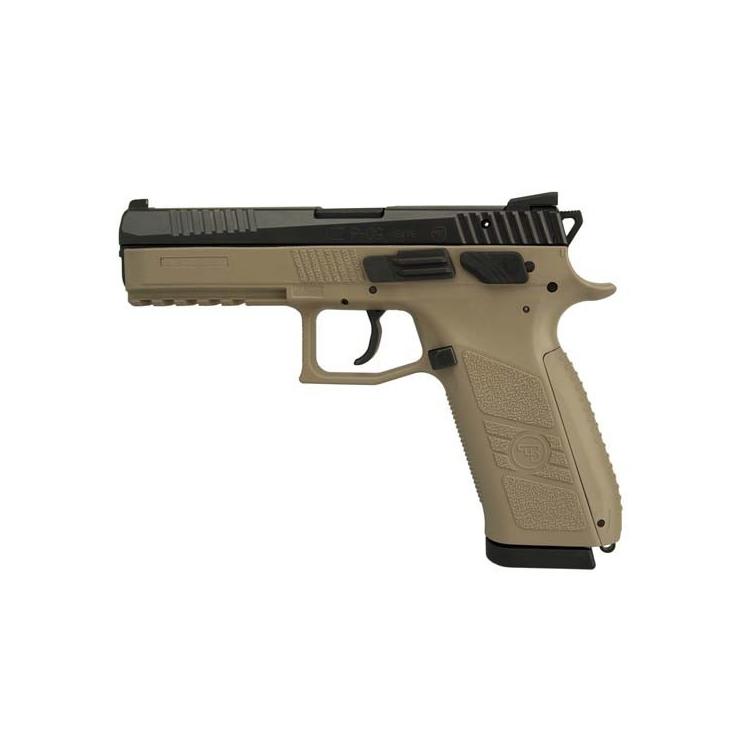 Samonabíjecí pistole CZ P-09 T (tritium) s barvou rámu FLAT DARK EARTH, CZUB