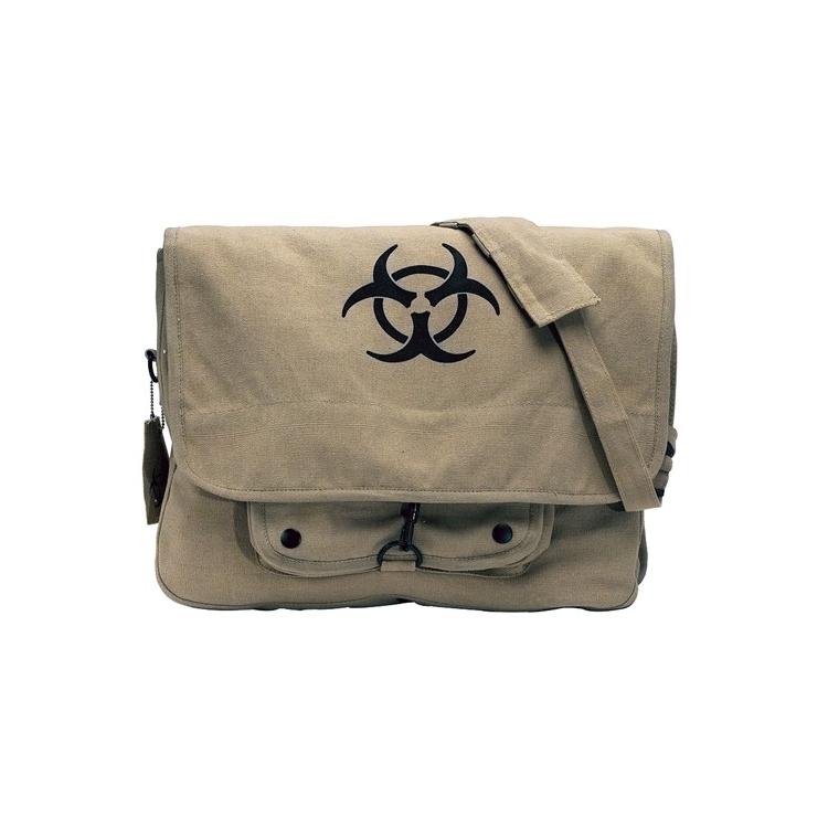 Taška přes rameno Bio-hazard Vintage, khaki, Rothco - Taška přes rameno Rothco Bio-hazard Vintage, khaki