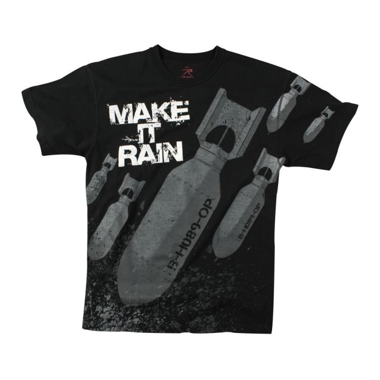 Triko Rothco Make It Rain, černé