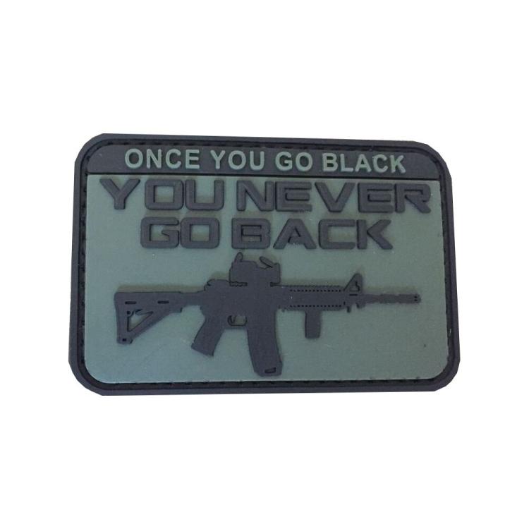 PVC nášivka Once You Go Black