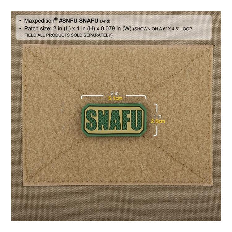 PVC nášivka SNAFU, Maxpedition