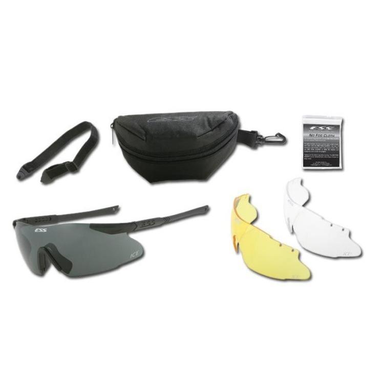 Balistické brýle ICE, 3 výměnná skla, ESS