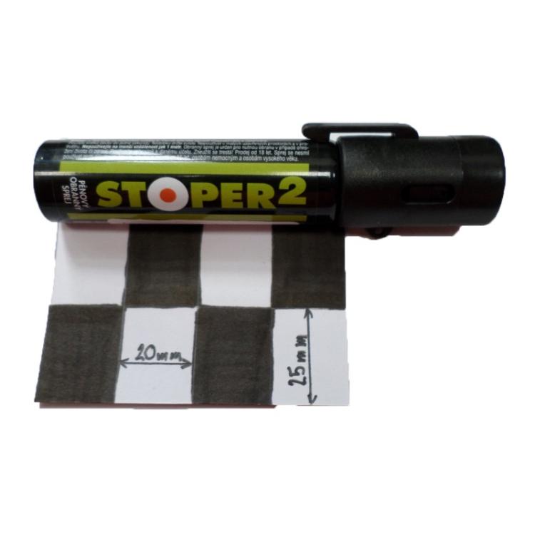 Pěnový pepřový sprej STOPER 2, 20 ml, A1 Security - Pěnový pepřový sprej STOPER 2, 20 ml, A1 Security