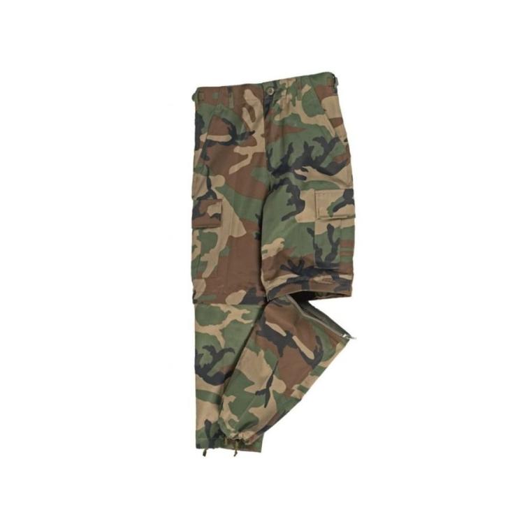 Dětské kalhoty US Zip Off, woodland, Mil-Tec