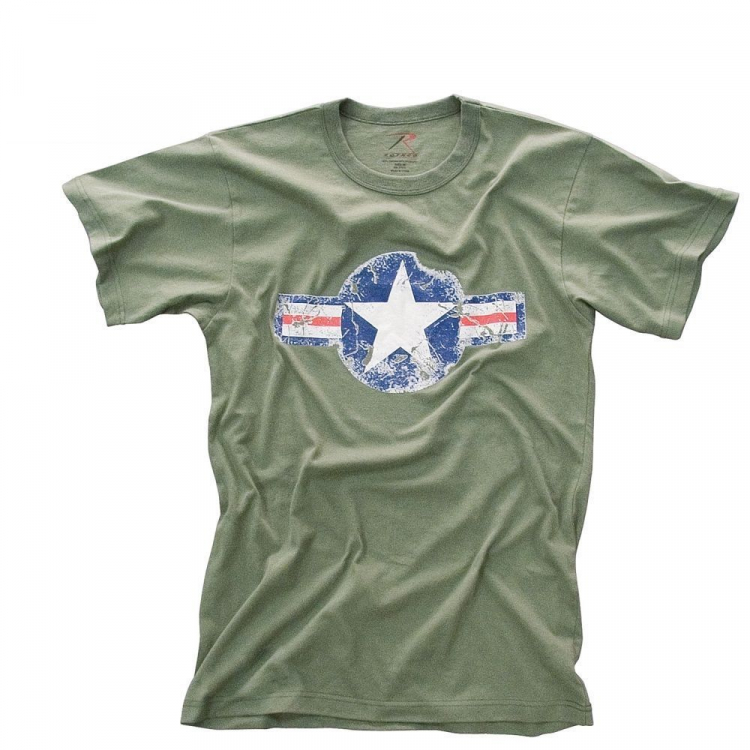 Tričko Air Corp Vintage, olivové, Rothco